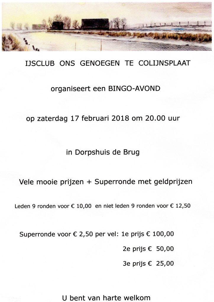 Bingo Ijsclub Colijnsplaat 2018